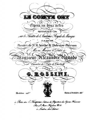 Greve Ory opera Gioacchino Rossini synopsis 1817