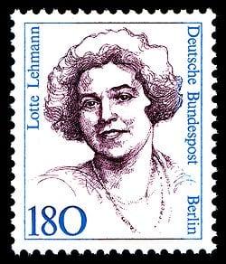Lotte Lehmann soprano born in Germany 1888 -1976