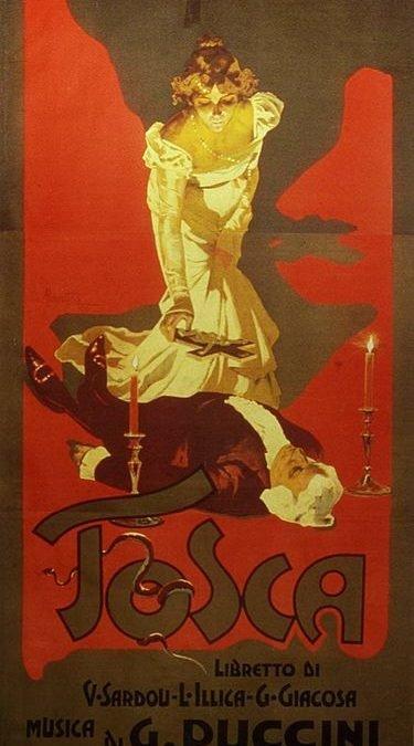 Tosca med synopsis och länk till librettot