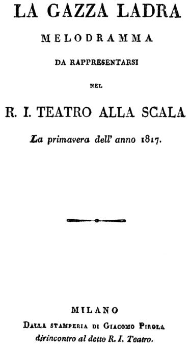 Den tjuvaktiga skatan synopsis 1817