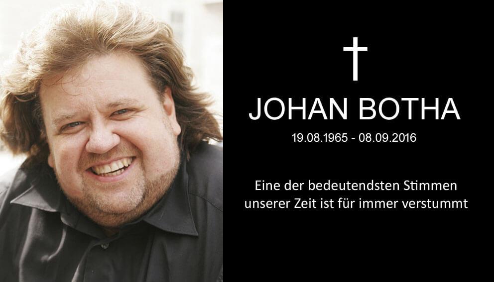 Johan Botha - wagnertenoren är död R.I.P.