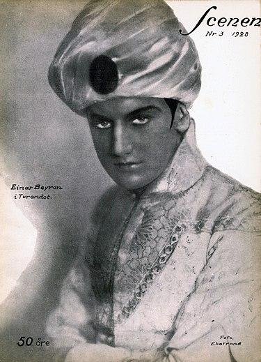 Einar Beyron hovsångare tenor 1901-1979