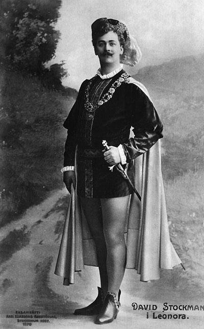 David Stockman hovsångare tenor 1879-1951